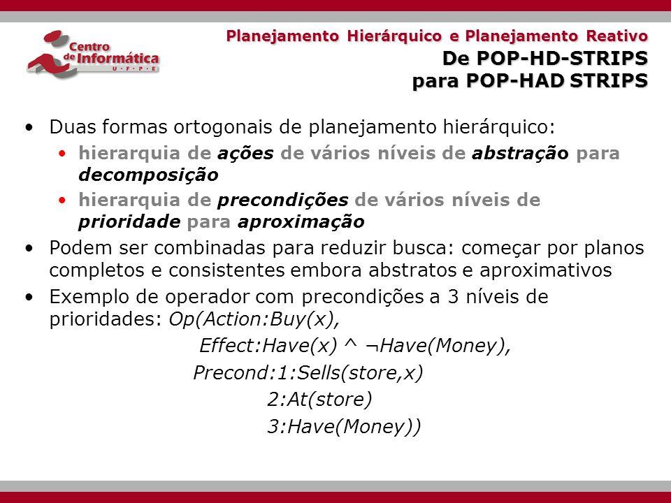 Duas formas ortogonais de planejamento hierárquico:
