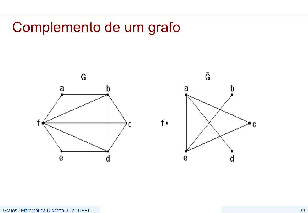 Complemento de um grafo