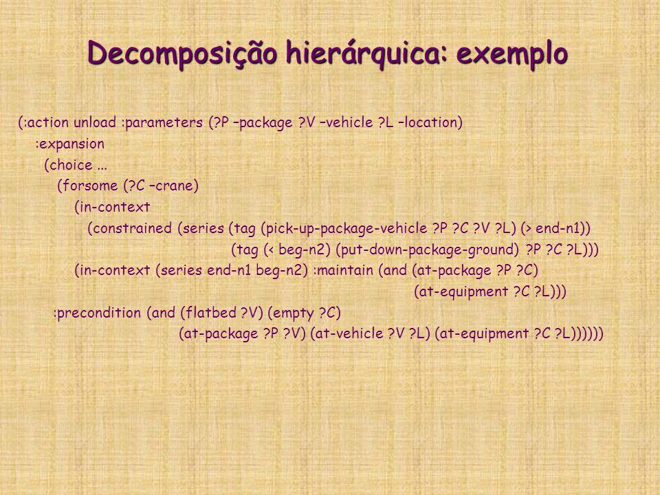 Decomposição hierárquica: exemplo