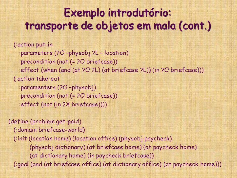 Exemplo introdutório: transporte de objetos em mala (cont.)
