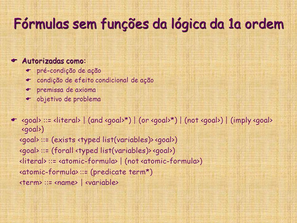 Fórmulas sem funções da lógica da 1a ordem
