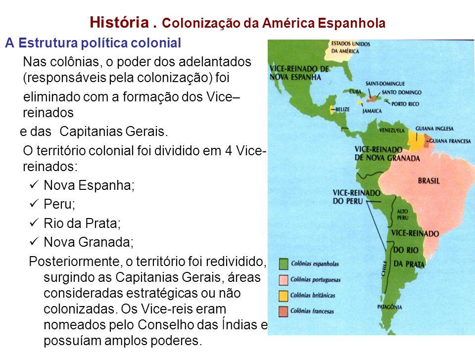 História . Colonização da América Espanhola