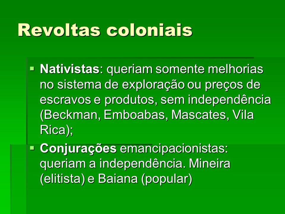 Revoltas coloniais