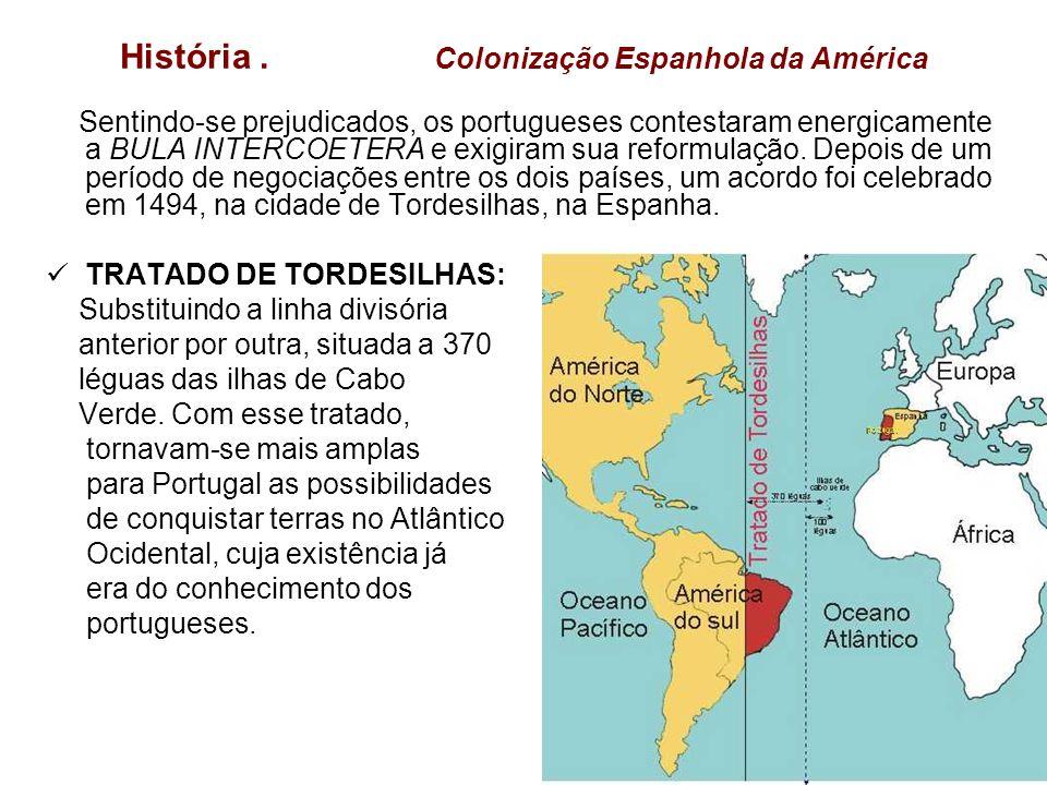 História . Colonização Espanhola da América