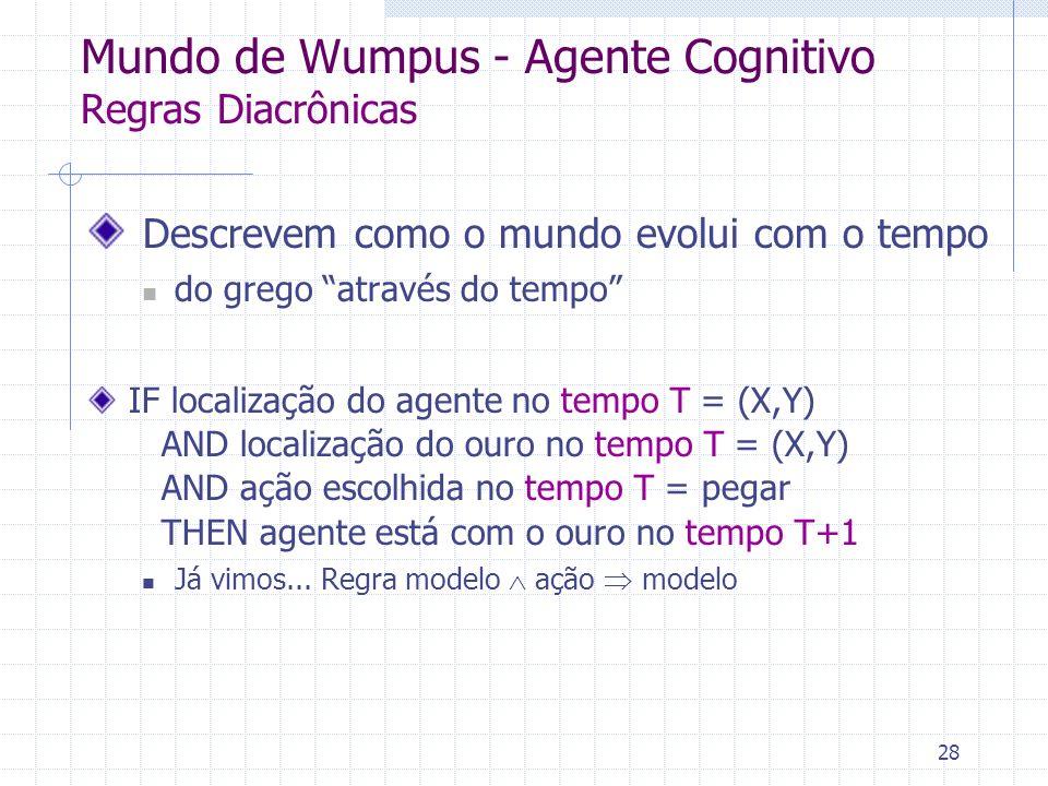 Mundo de Wumpus - Agente Cognitivo Regras Diacrônicas