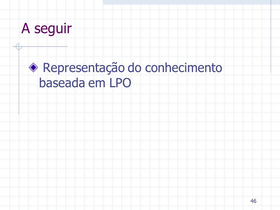 A seguir Representação do conhecimento baseada em LPO