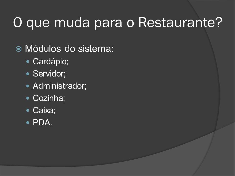 O que muda para o Restaurante