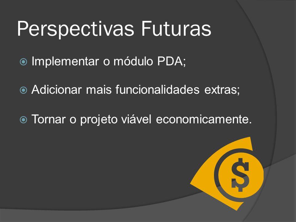 Perspectivas Futuras Implementar o módulo PDA;