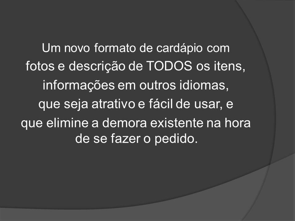 fotos e descrição de TODOS os itens, informações em outros idiomas,