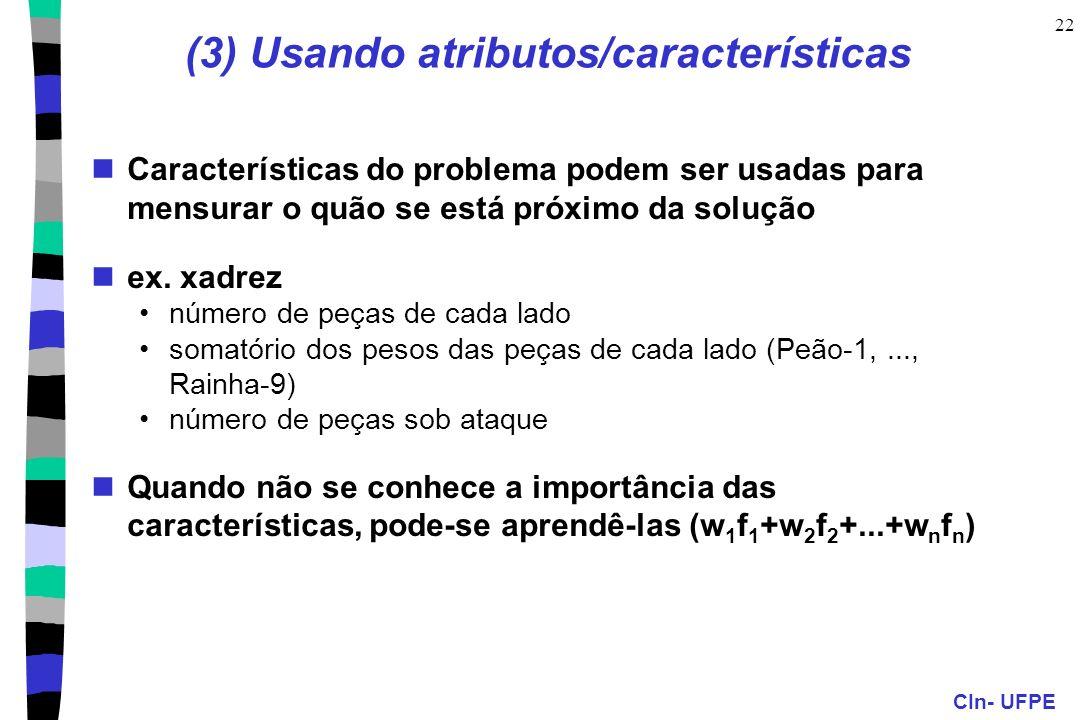 (3) Usando atributos/características