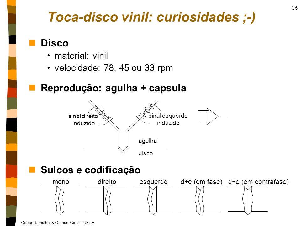Toca-disco vinil: curiosidades ;-)