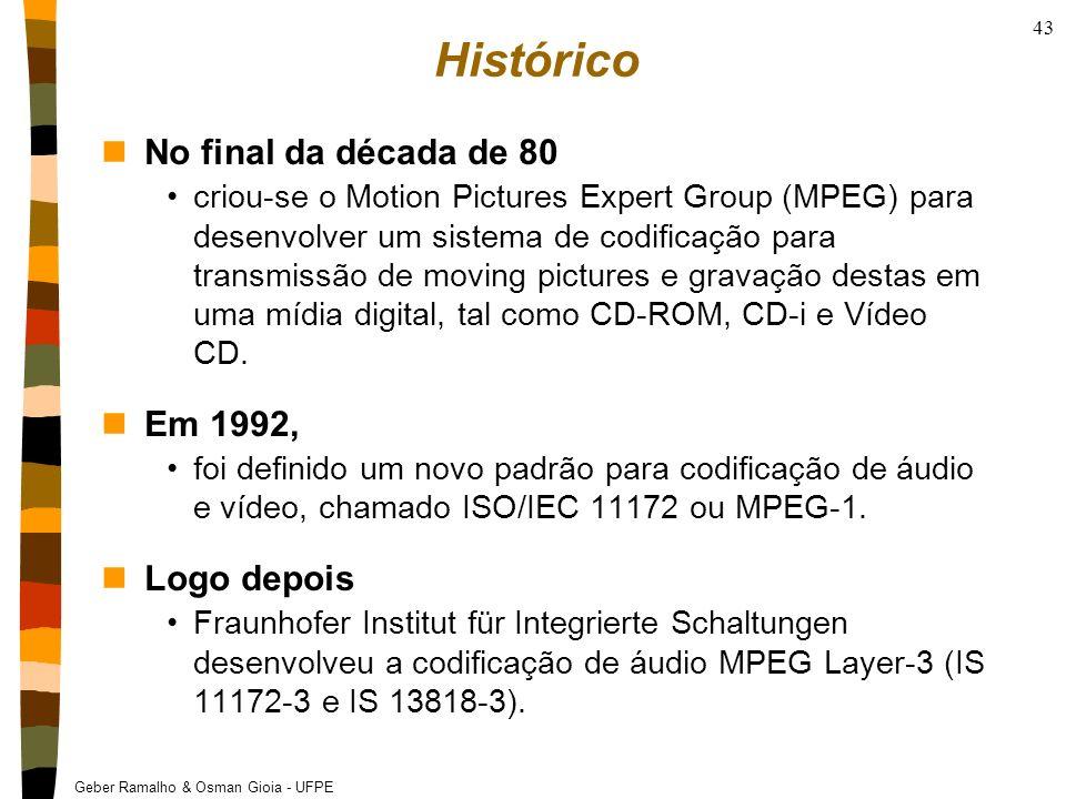 Histórico No final da década de 80 Em 1992, Logo depois
