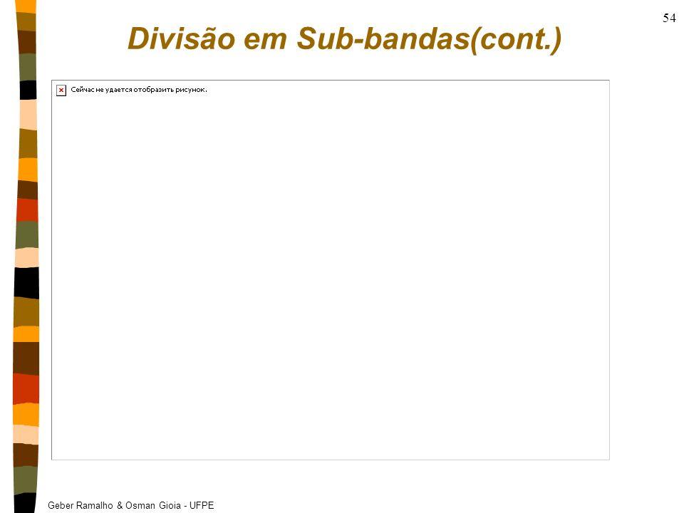 Divisão em Sub-bandas(cont.)