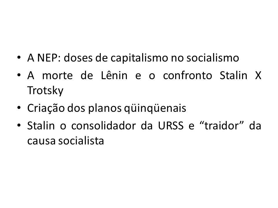 A NEP: doses de capitalismo no socialismo