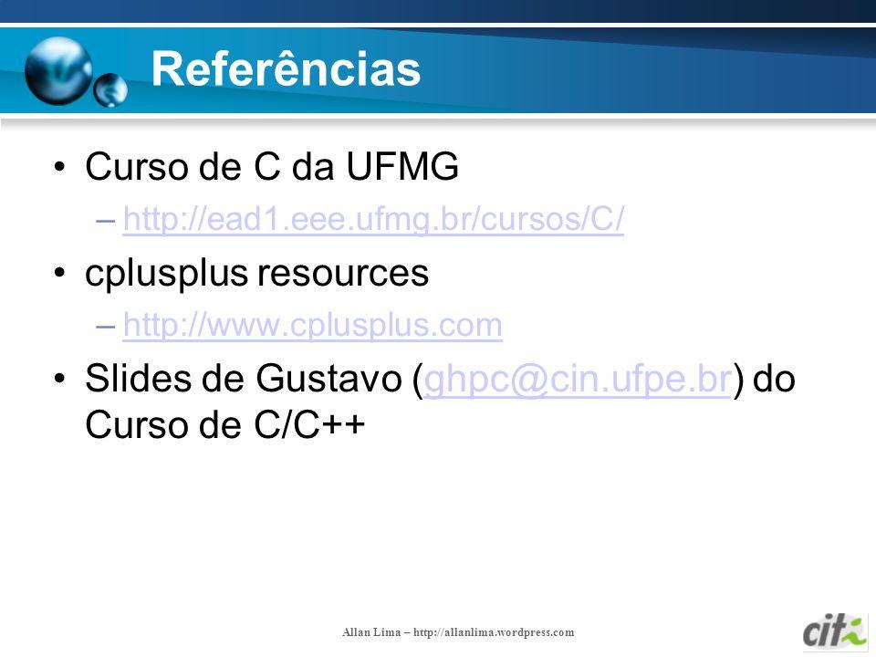 Referências Curso de C da UFMG cplusplus resources