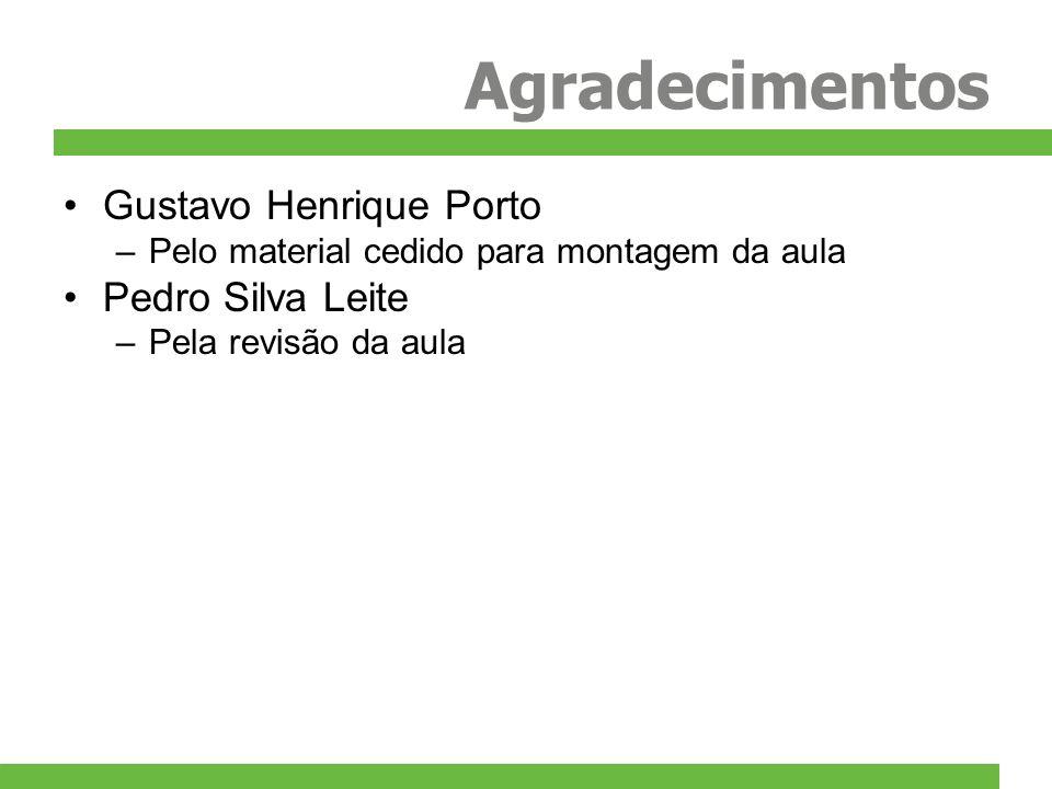 Agradecimentos Gustavo Henrique Porto Pedro Silva Leite