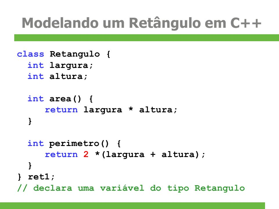 Modelando um Retângulo em C++