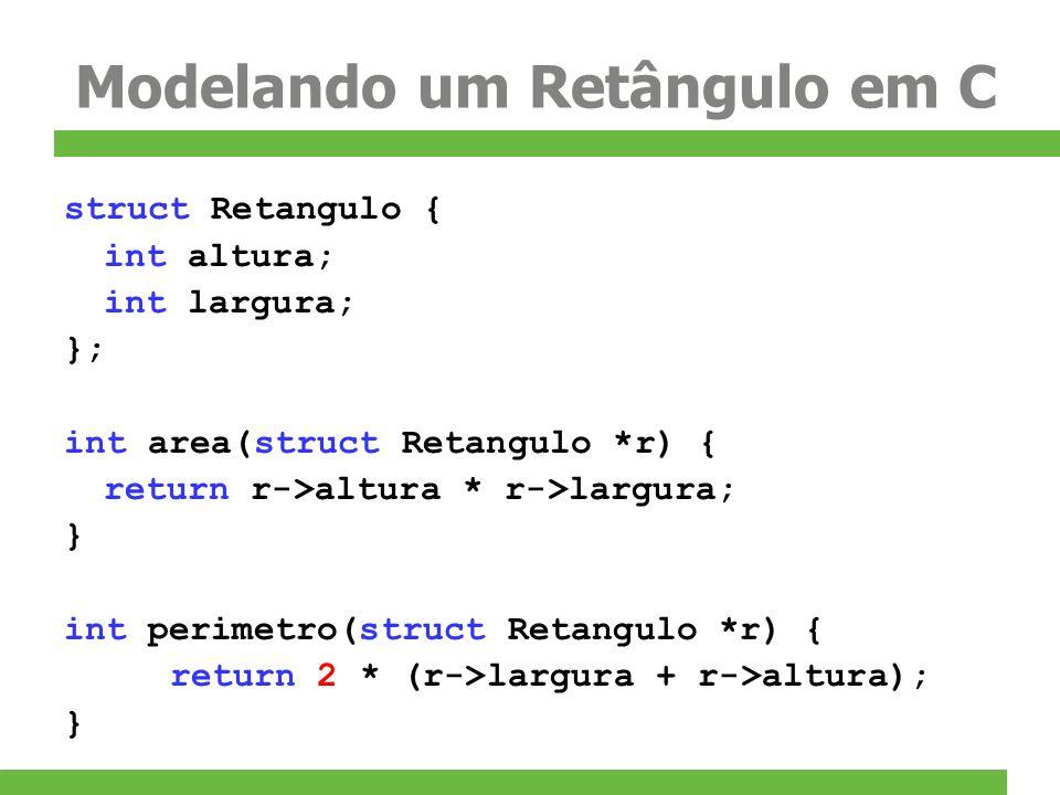 Modelando um Retângulo em C