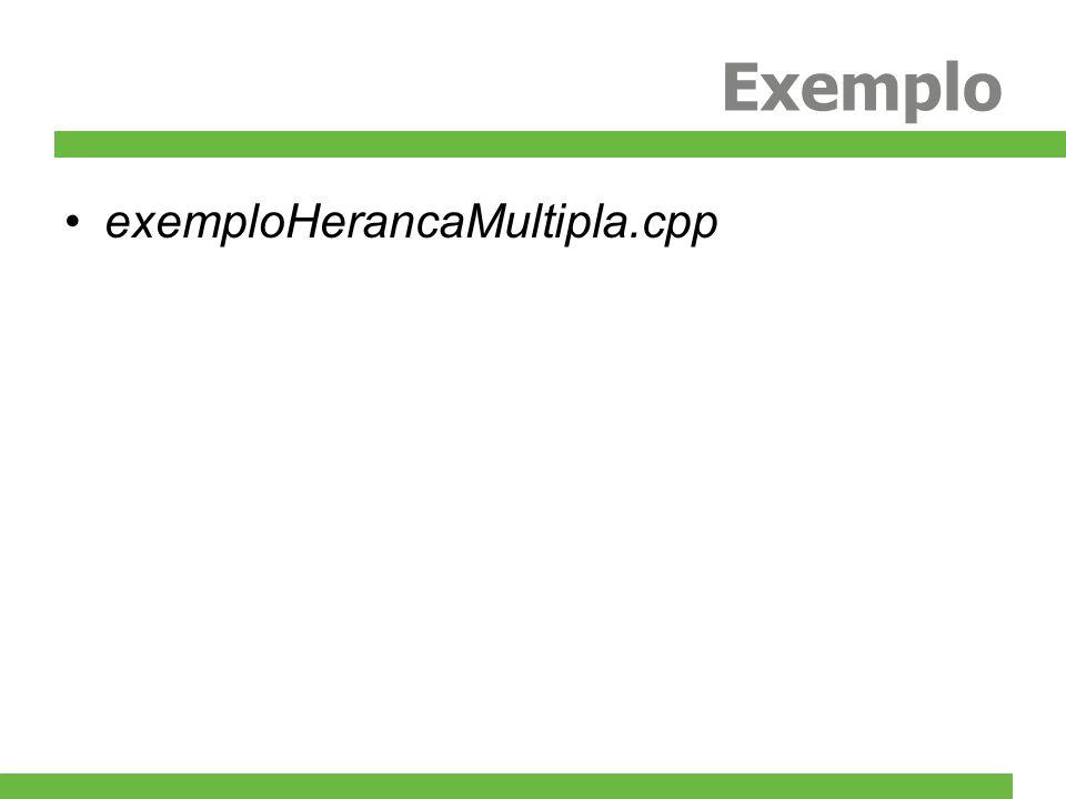 Exemplo exemploHerancaMultipla.cpp