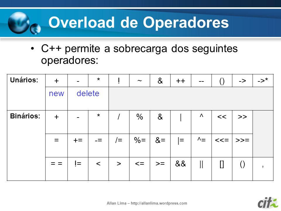 Overload de Operadores