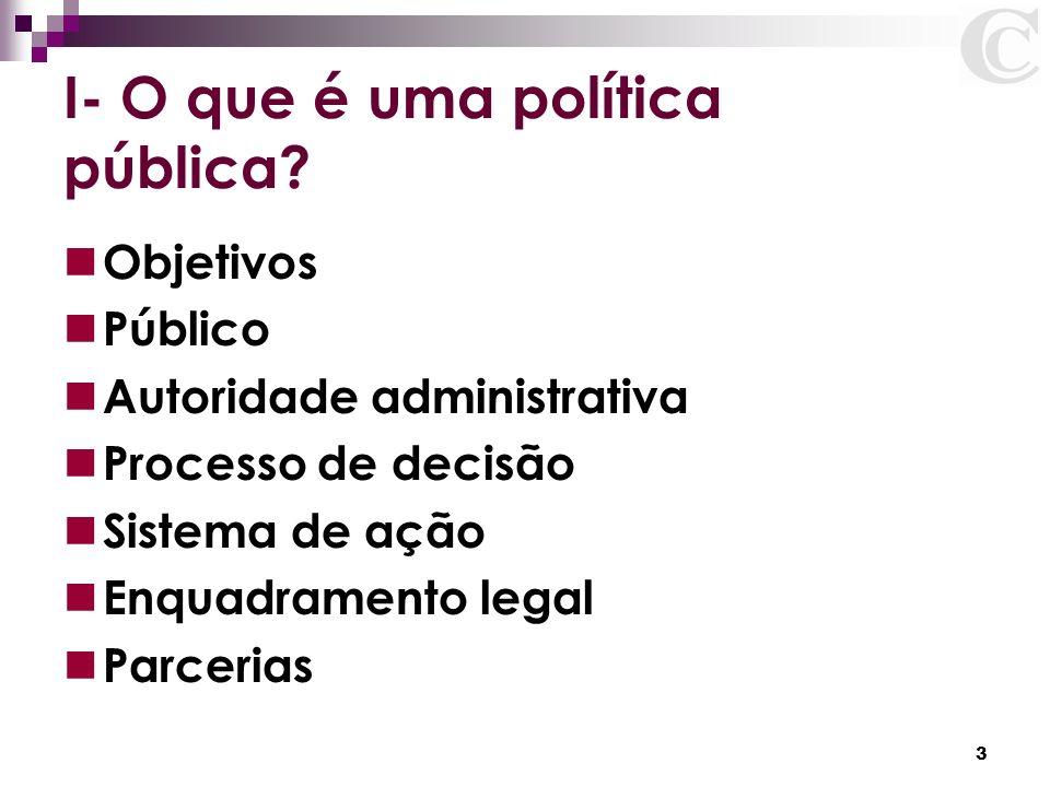 I- O que é uma política pública