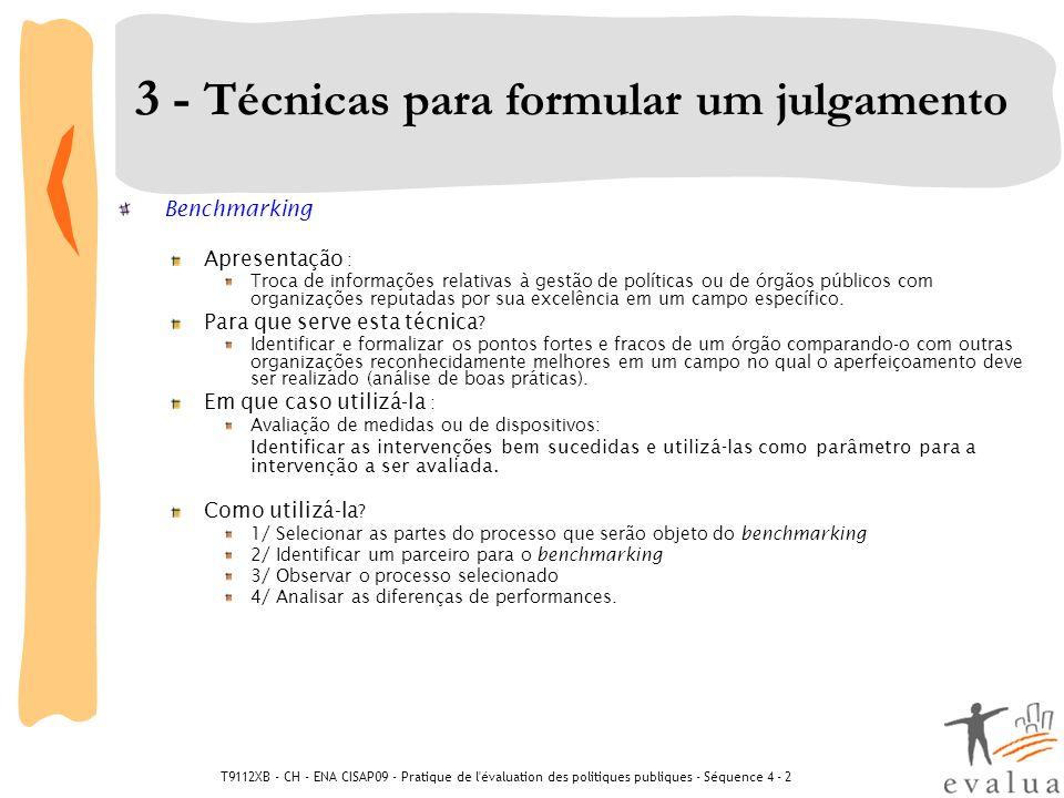 3 - Técnicas para formular um julgamento