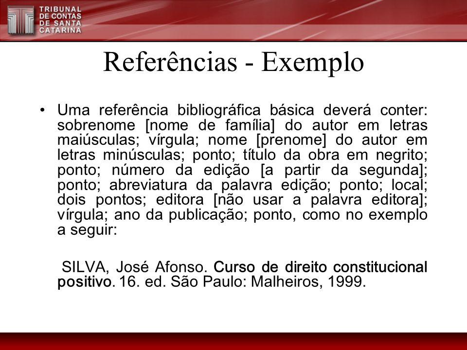 Referências - Exemplo