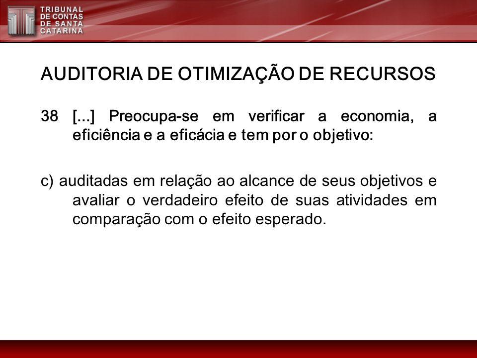 AUDITORIA DE OTIMIZAÇÃO DE RECURSOS