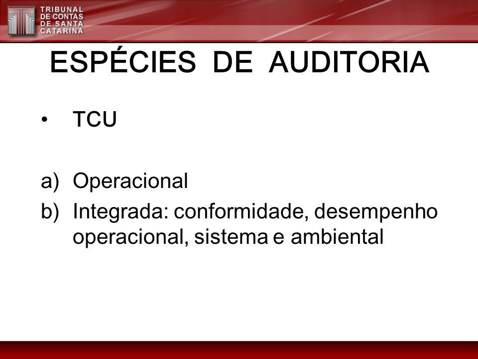 ESPÉCIES DE AUDITORIA TCU Operacional