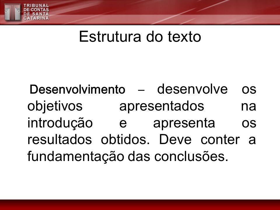 Estrutura do texto