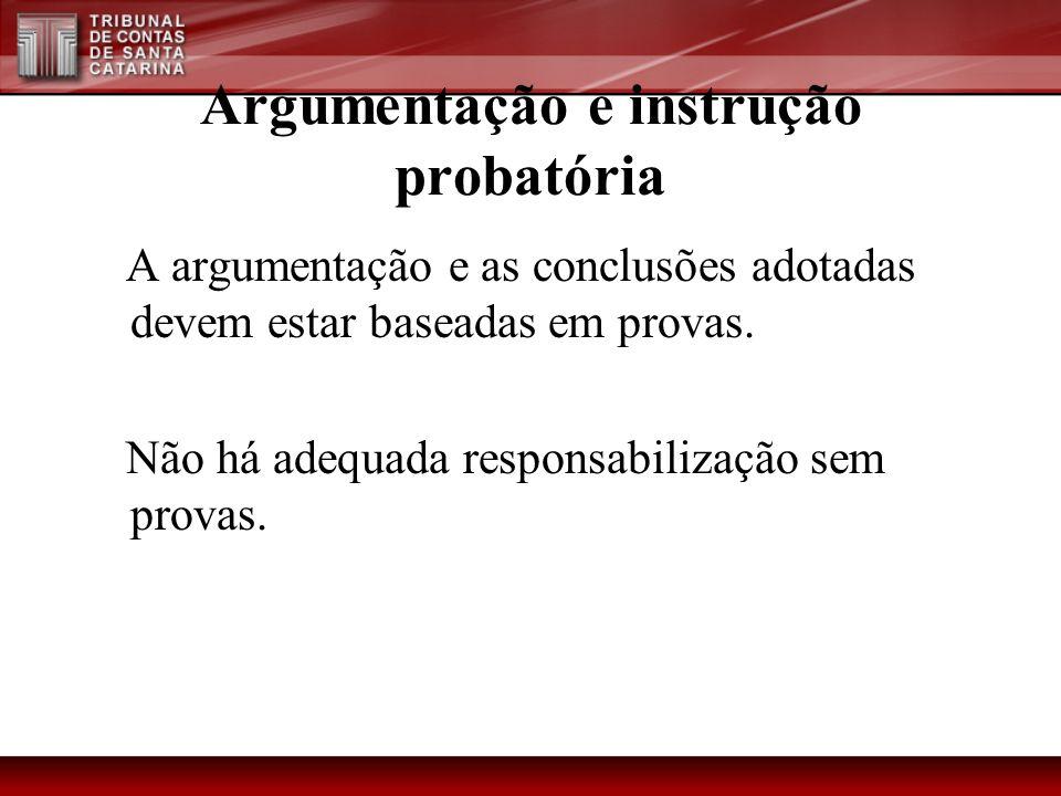 Argumentação e instrução probatória