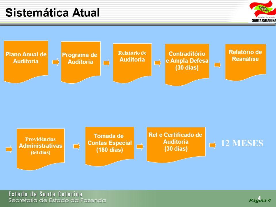 Sistemática Atual 12 MESES Plano Anual de Auditoria Programa de