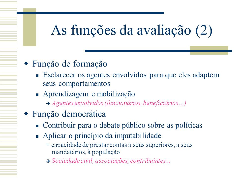 As funções da avaliação (2)