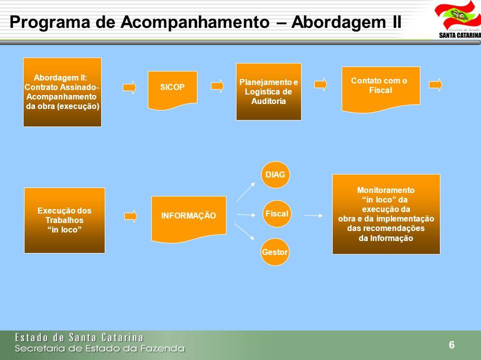 Programa de Acompanhamento – Abordagem II