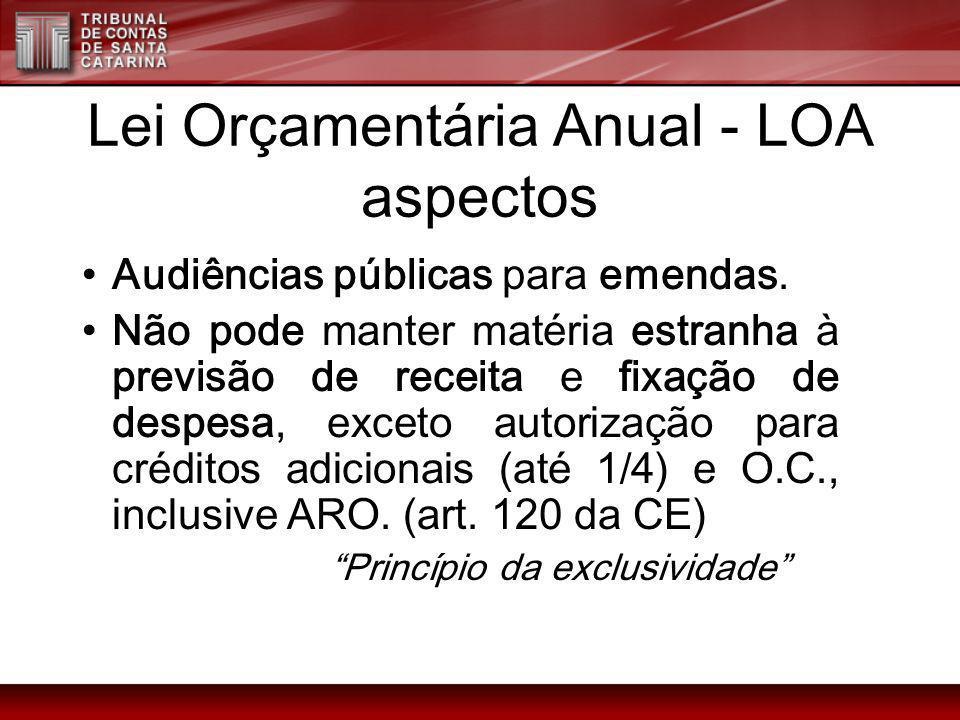 Lei Orçamentária Anual - LOA aspectos