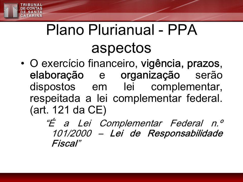Plano Plurianual - PPA aspectos