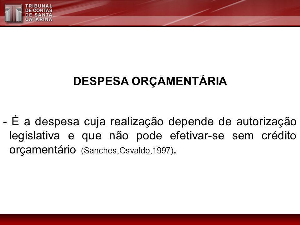 DESPESA ORÇAMENTÁRIA