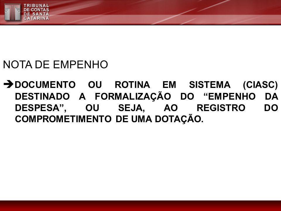 NOTA DE EMPENHO