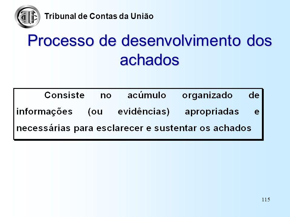 Processo de desenvolvimento dos achados