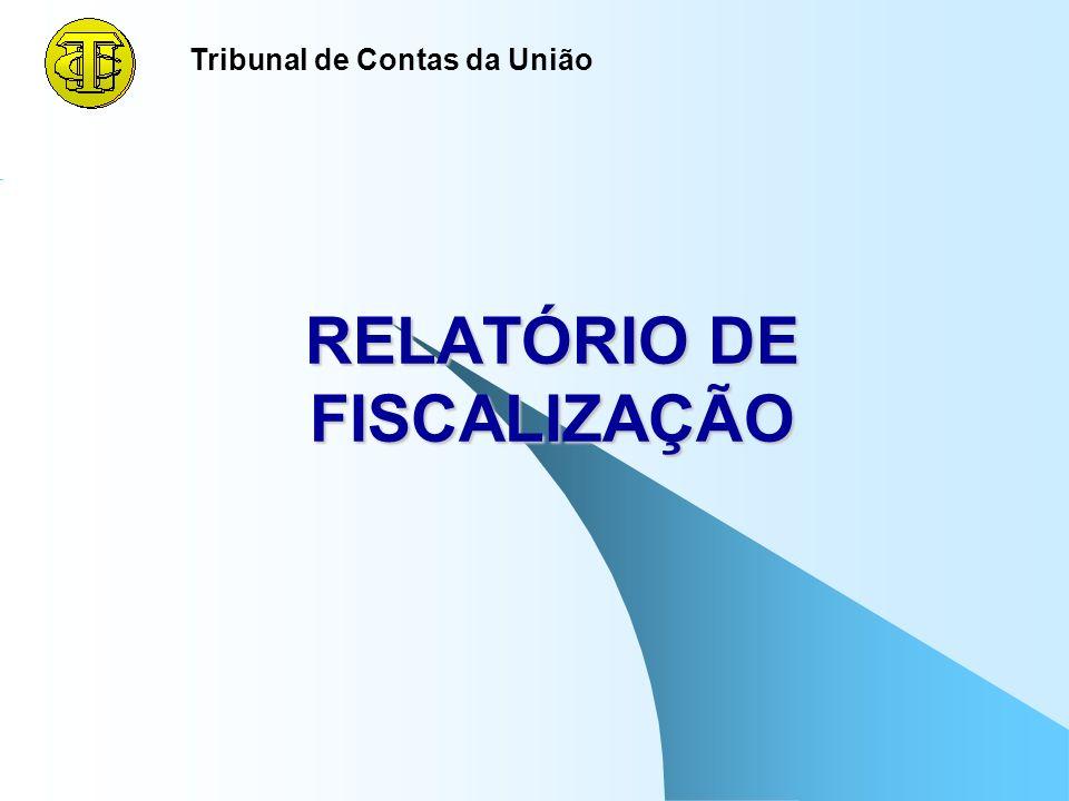 RELATÓRIO DE FISCALIZAÇÃO