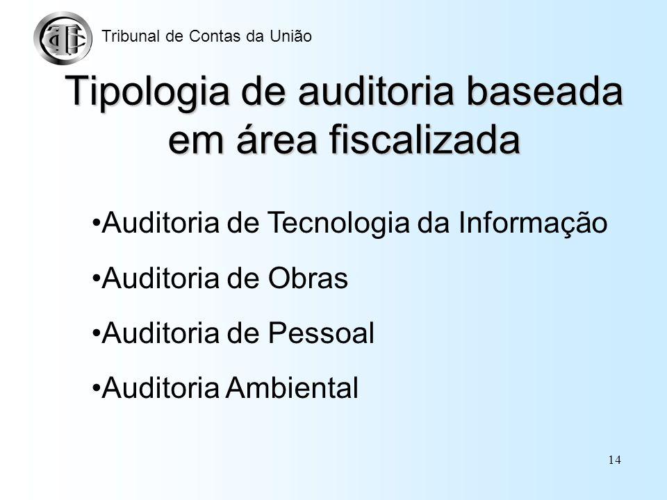 Tipologia de auditoria baseada em área fiscalizada