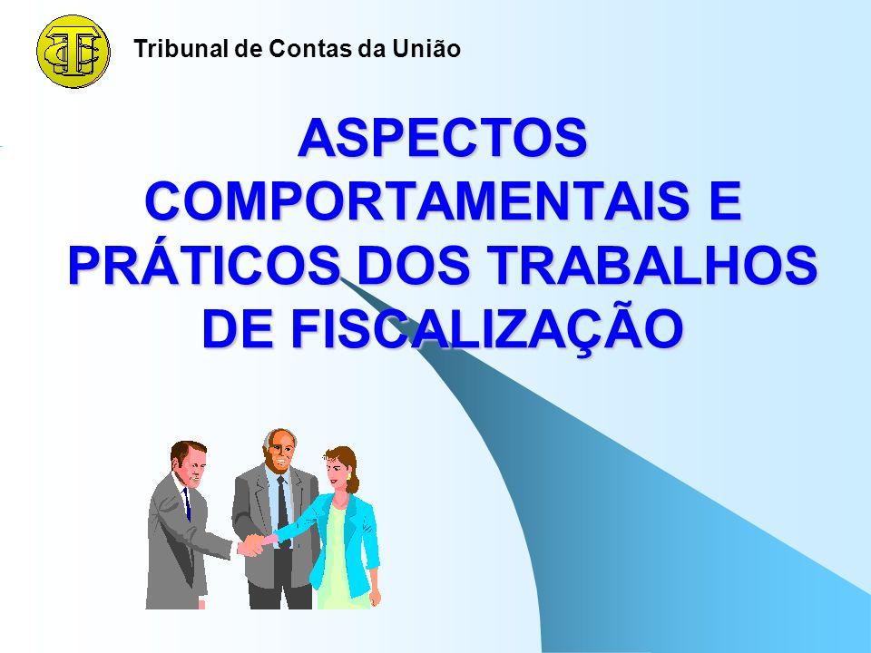 ASPECTOS COMPORTAMENTAIS E PRÁTICOS DOS TRABALHOS DE FISCALIZAÇÃO