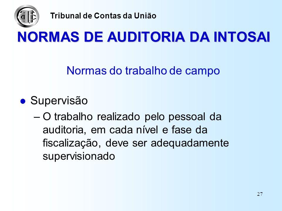 NORMAS DE AUDITORIA DA INTOSAI
