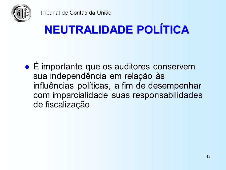 NEUTRALIDADE POLÍTICA