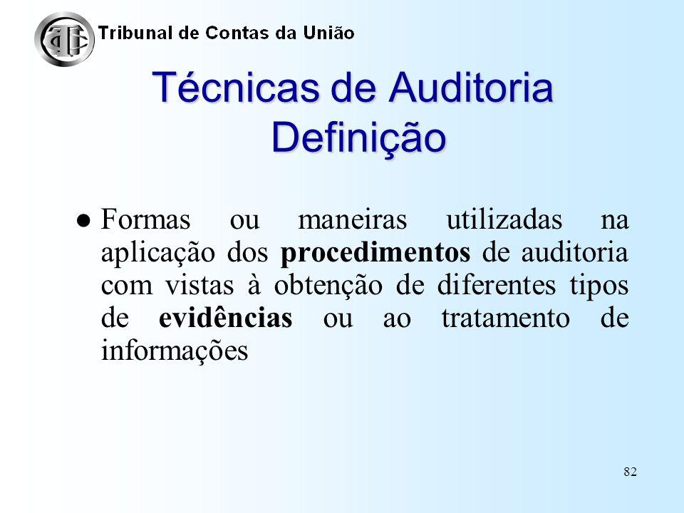 Técnicas de Auditoria Definição