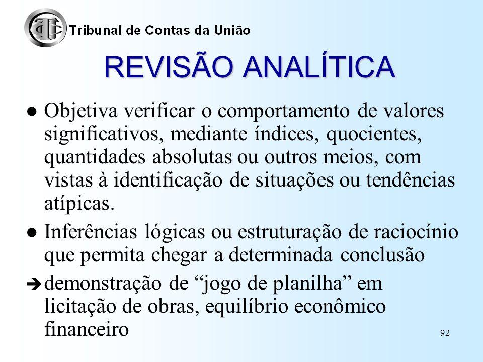 REVISÃO ANALÍTICA