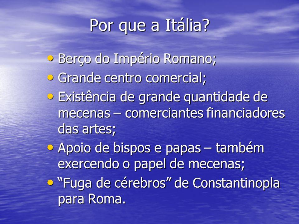 Por que a Itália Berço do Império Romano; Grande centro comercial;