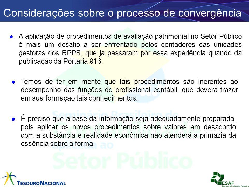 Considerações sobre o processo de convergência