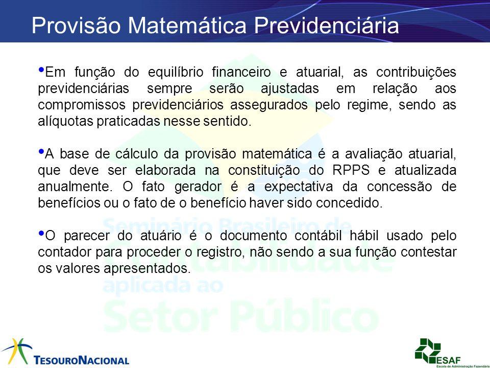 Provisão Matemática Previdenciária