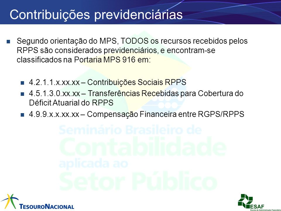 Contribuições previdenciárias